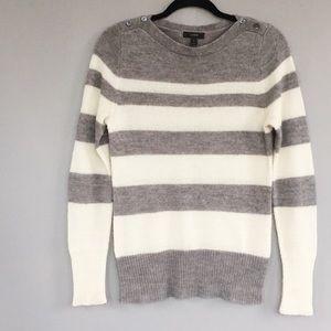 J Crew Striped Wool Blend Sweater